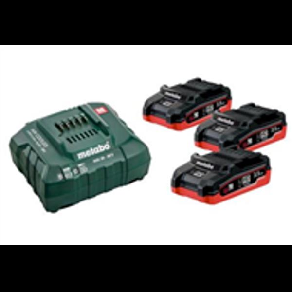 Billede af Batterisæt 3 stk m/lader 18 V 3.1 amp