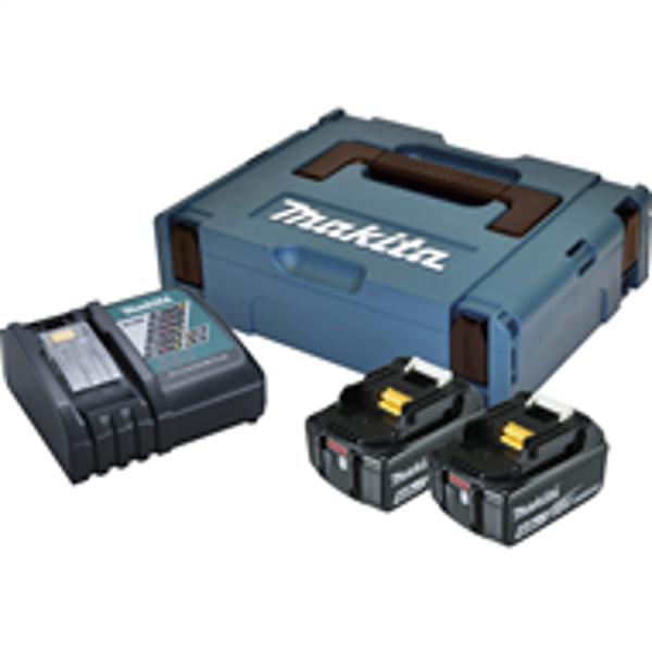 Billede af Batterisæt 2 stk m/lader 18 V 4 amp