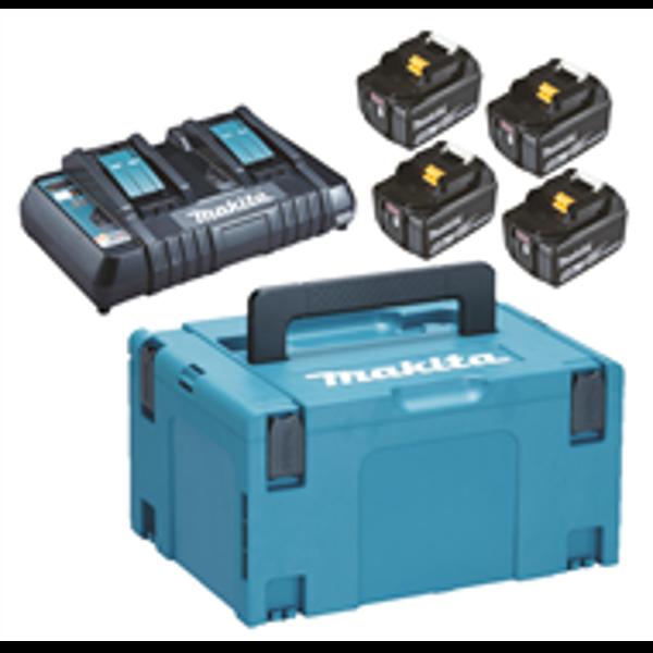 Billede af Batteripakke 4x18V 5amp m/dobbelt lader